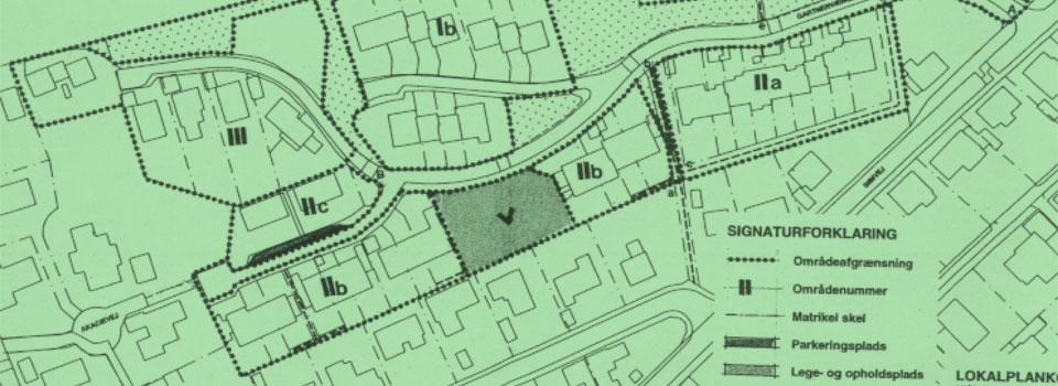 Kort over lokalplanområdet